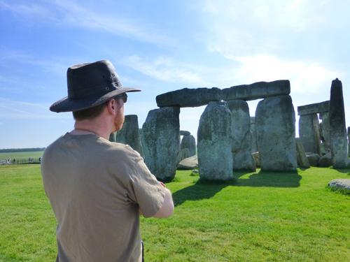 Mike ponders Stonehenge