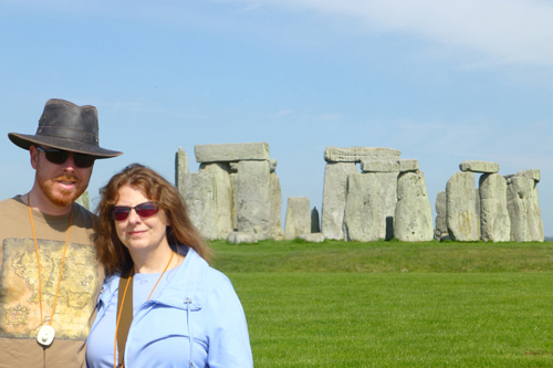 Mike and I at Stonehenge